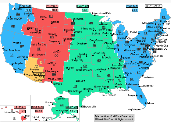 US Time Zones Map Current Local Time In USA Best Time Zone Map - Map us timezones
